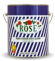 Rose décor semi gloss
